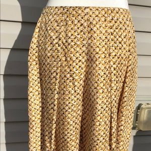 Banana Republic Silk Pleated Print Skirt Size 6